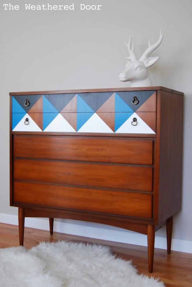 Geometric Mid Century Dresser WD-3