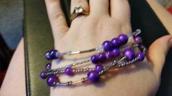Purple bracelet I made