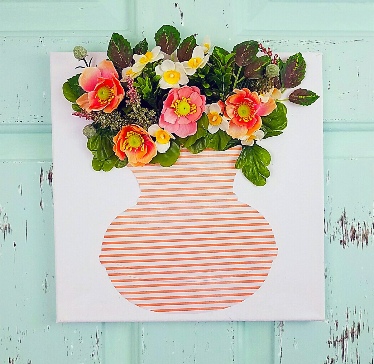 DIY Flower Canvas