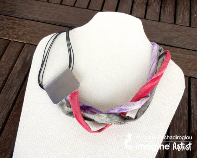Make an Easy Fabric Necklace with All-Purpose Ink