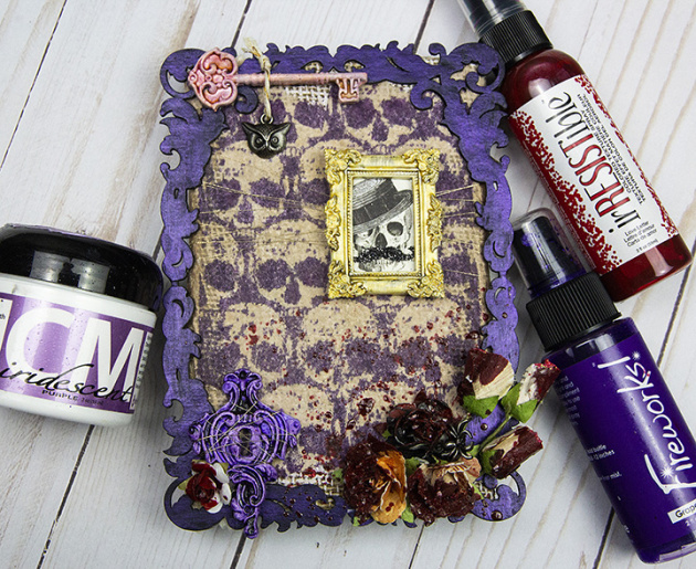 Learn to Create a Mixed Media Halloween Project