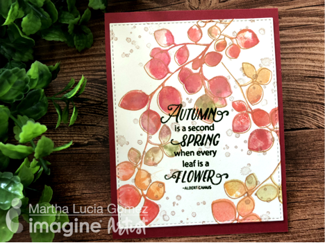Use a Creative Watercolor Technique to Stamp