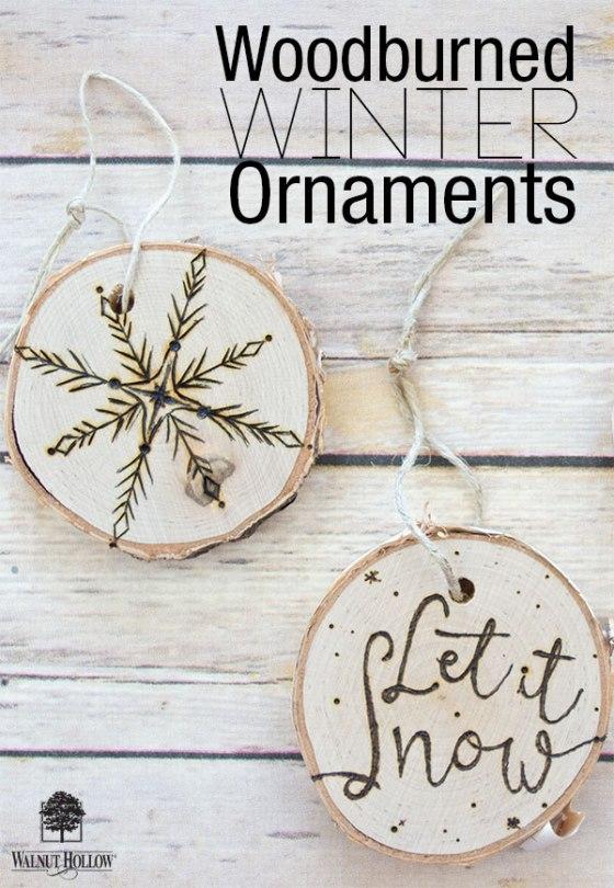 Walnut Hollow Creative Woodburner Winter Ornaments