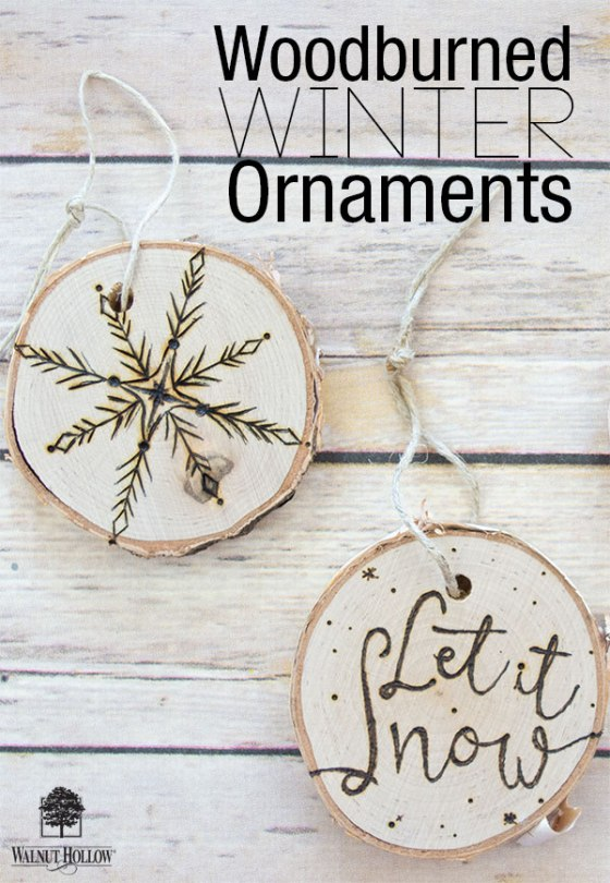 Walnut Hollow Creative Woodburner Winter Ornaments