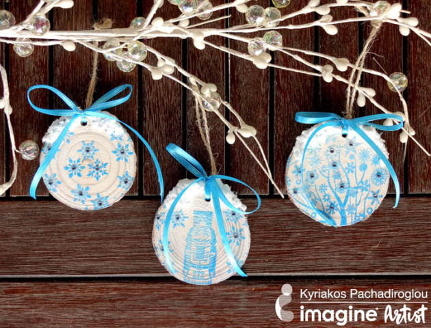 Learn How to Make Wood Slice Holiday Ornaments
