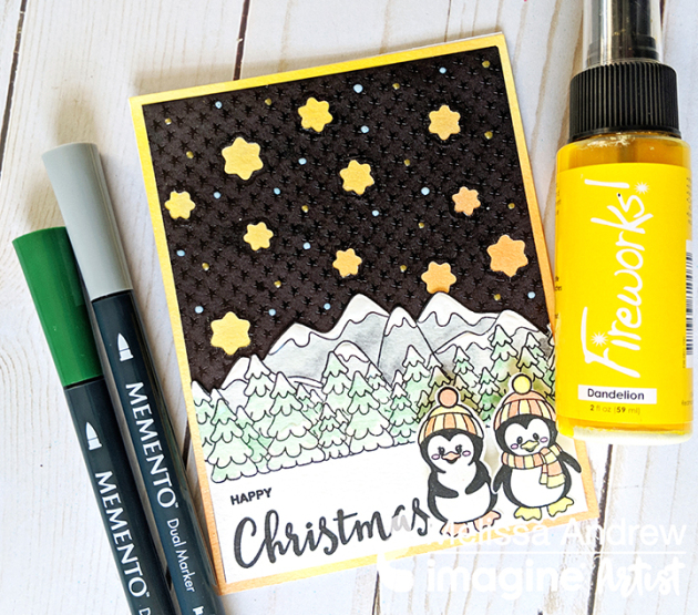 Learn How to Create a Christmas Card with Rinea Foil Paper!
