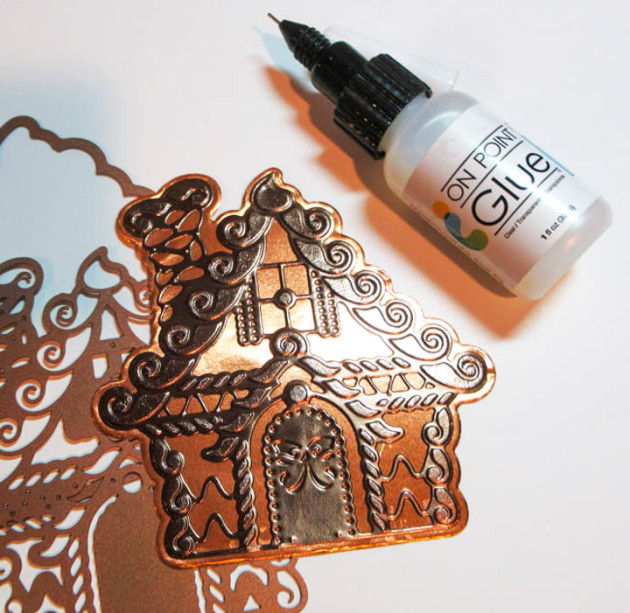 Gingerbread House from Rinea's Glossy Mocha/Gold Foil