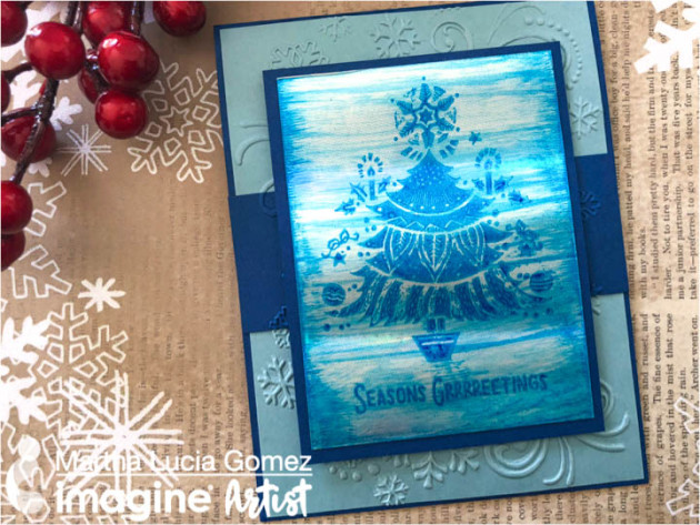 Create a Frosted Blue Season's Greetings Card