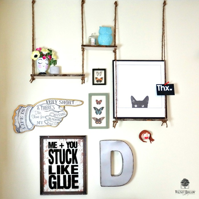 Bark Edge Board Haning Shelves by Dana Tatar