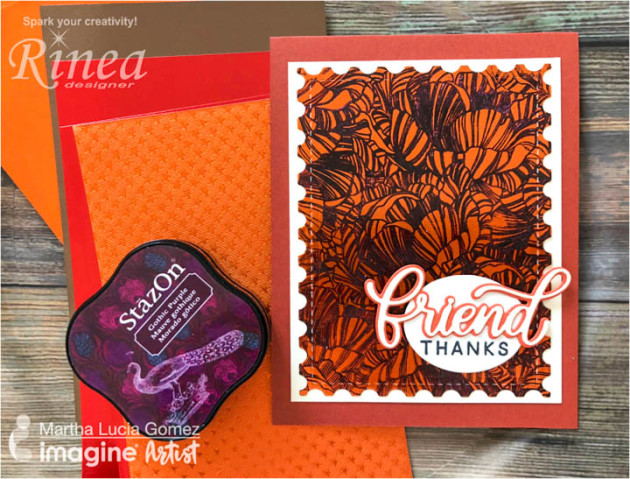 Learn How To Stamp On Rinea Foil Paper With Stazon