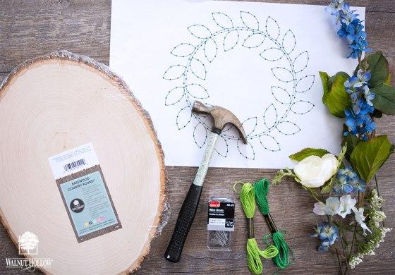 String art wreath supplies