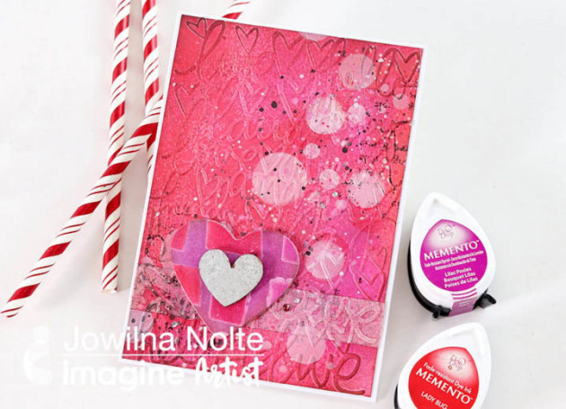 See How to Create a Mixed Media background with Self-Made Washi Tape