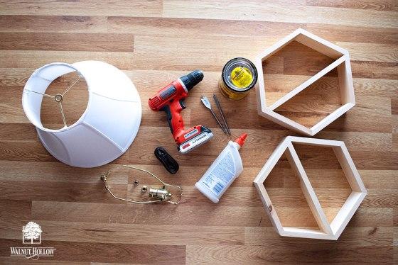 Hexagon Table Lamp Supplies